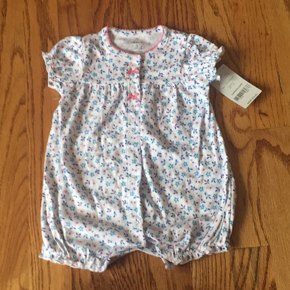 9593350cd815 Carter's One Pieces | Nwt 03 Month Romper Carters Baby Girl | Poshmark